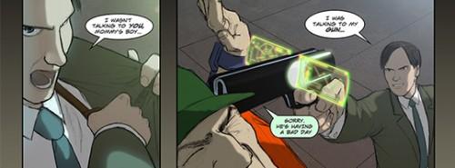 Slingers comic art
