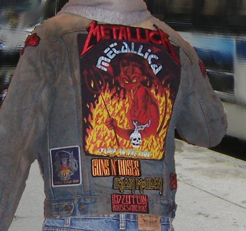 metal fans denim jacket